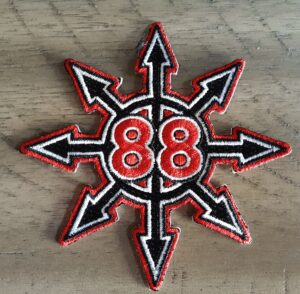 Chaos 88 - Patch - Black, White, and Red