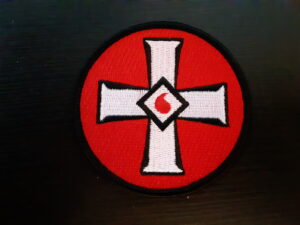 Blood Drop Cross Patch