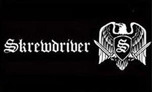 Skrewdriver Flag The Eagle Black 3ft x 5ft
