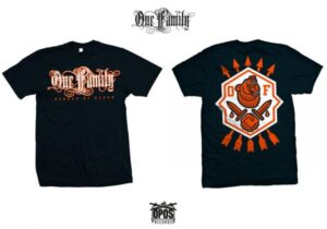 ONE FAMILY - BONDED BY BLOOD - SHIRT NAVY - All Sizes