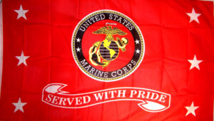 Outdoor Flag Store US Marines Served with Pride Flag - 3 x 5 ft