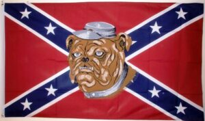 Rebel Bulldog (Confederate) - Flag - 3 x 5 ft