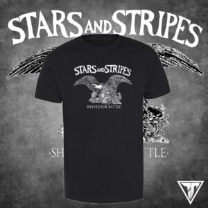 Stars and Stripes - Shaved for battle T-Shirt Black