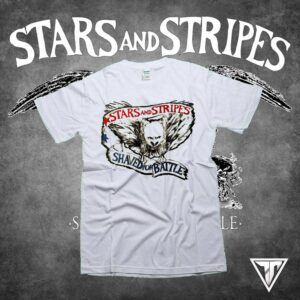 Stars and Stripes - Shaved for battle T-Shirt Gray