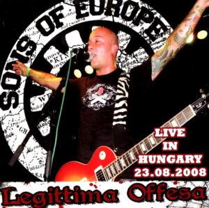 Legittima Offesa - Live in Hungary 23.08.08 - Compact disc