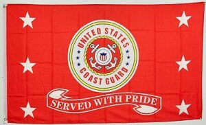 US Caost Guard Served with Pride - Flag - 3 X 5 ft
