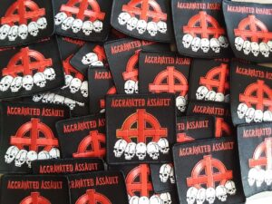 Aggravated Assault - Out on Bail - Patch Black