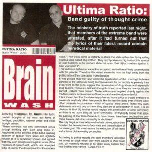 Ultima Ratio - Brainwash - Compact Disc
