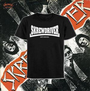 Skrewdriver - Antisocial - T-Shirt Black