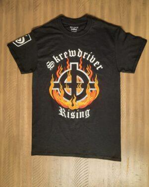 Skrewdriver - Rising - T-Shirt Black