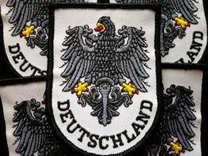 Deutschland with Reichsadler- Patch Black and White